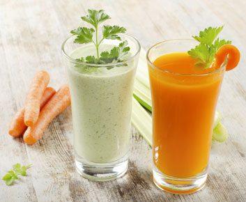1. Cocktail jus d'orange, carotte et céleri