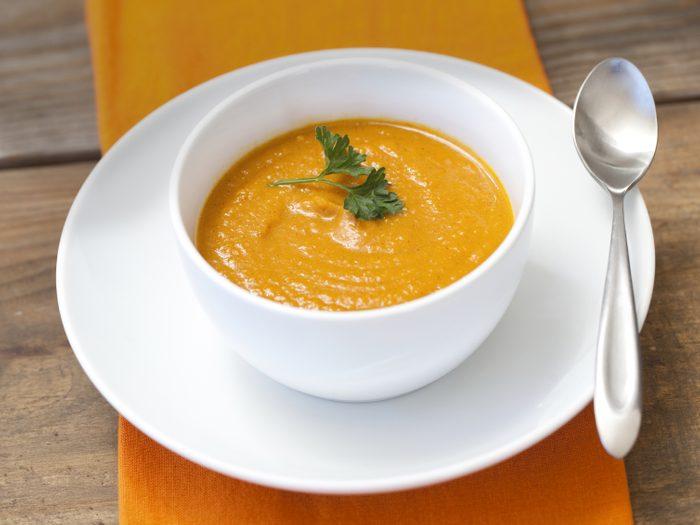 Une soupe pour contrer la gueule de bois.
