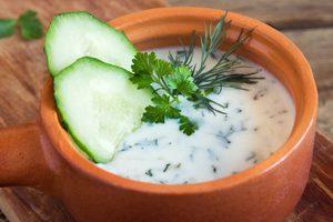 Potage froid au concombre