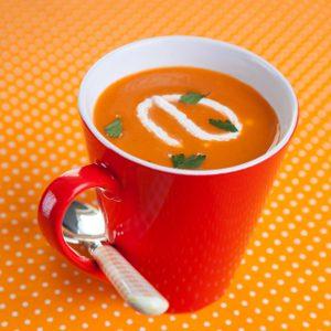 1. Soupe de carottes pimentée