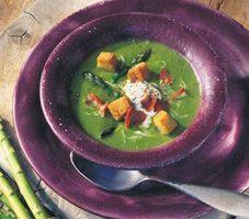 7. Soupe aux petits pois et aux asperges