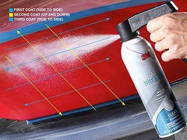 Appliquer la pellicule protectrice en vaporisateur