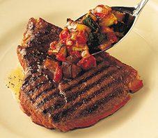 Steak épicé et ratatouille rapide