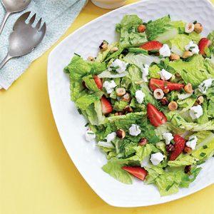 3. Salade de romaine et de fraises