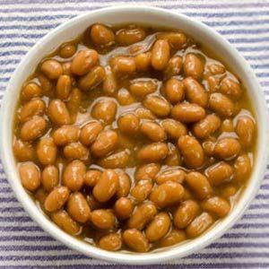 4. Haricots blancs au lard (portion de 1/2 tasse) : 14 grammes