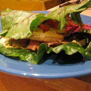6.Le hamburger de tofu citron-basilic de Stephanie