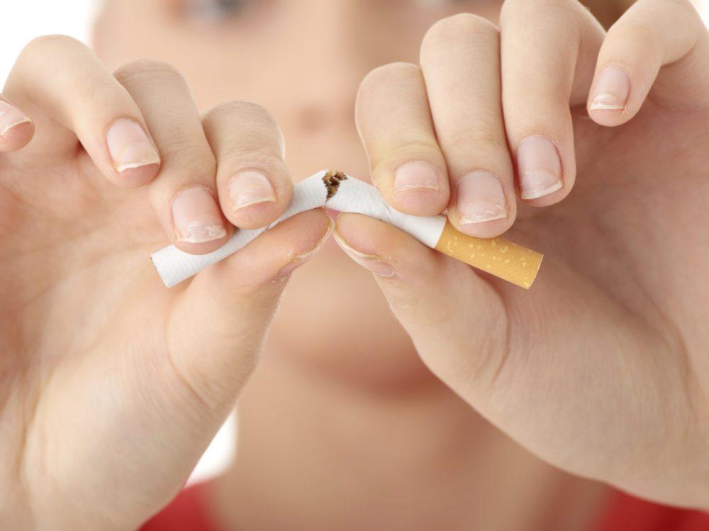 Arrêter de fumer.
