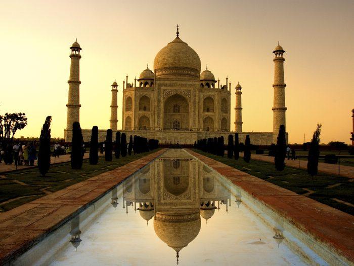 1. Le Taj Mahal, Inde