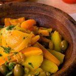 Poulet et carottes en tagine