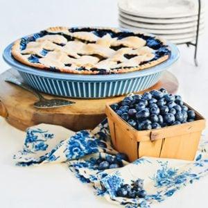 3. Tarte yogourt et bleuets