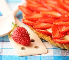 1. Tarte aux fraises et au yogourt