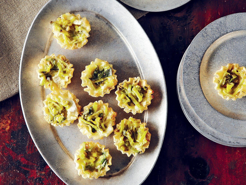 Tartelettes végétariennes au brie et au poireau