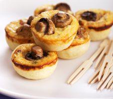 9. Tartelettes aux champignons et au fromage oka