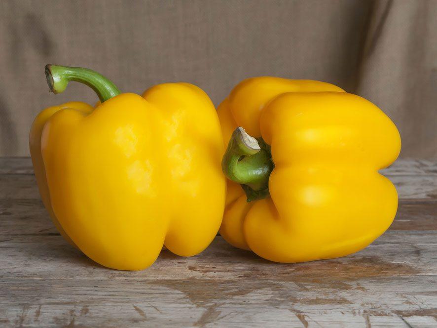 Les poivrons jaunes: pour un teint radieux