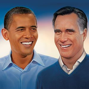 Barack Obama et Mitt Romney: les candidats font la pause