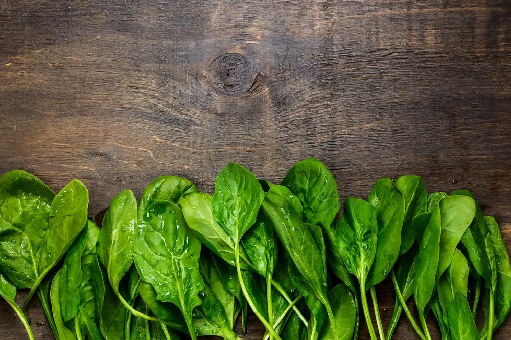 5. Spinach for an iron health