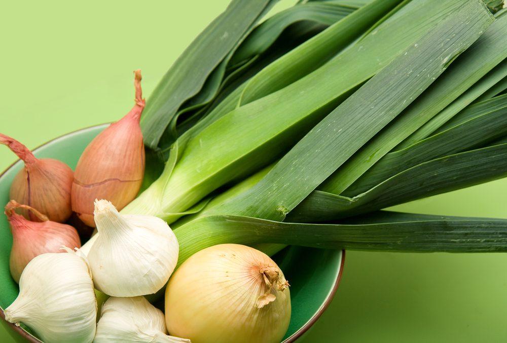 7. L'oignon, l'ail et l'échalote font partie des meilleurs légumes pour votre santé