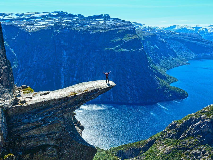 Le selfie le plus intrépide: Trolltunga en Norvège
