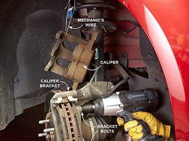 Dévisser la butée du serre-frein de votre voiture