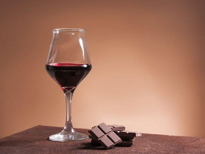 Vin et chocolat : bons pour la santé