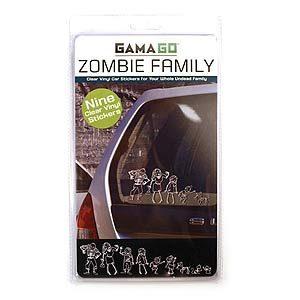 Autocollants de zombie