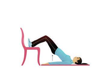 1. Genoux: ponts sur chaise avec genoux fléchis