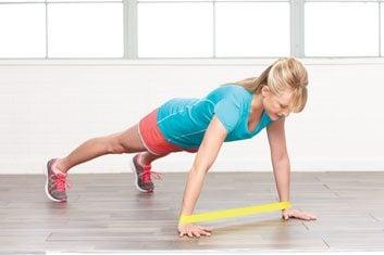 Déplacement des mains en position de planche: 1 minute