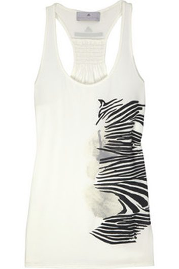 Camisole à imprimé zébré Adidas par Stella McCartney