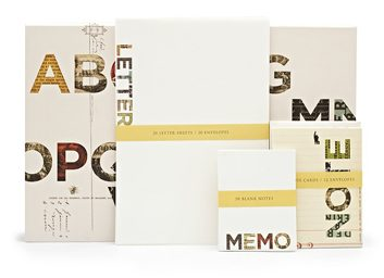 Ensemble de papier à lettres grand format Allphabet de Fringe Studio