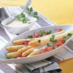 Salade d'asperges à la mayonnaise ail-citron