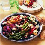 Assiette de légumes grillés