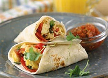 Burritos œufs-poivrons