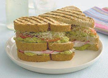 Club sandwichs au poulet et à l'avocat