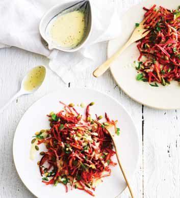 Salade corsée de betterave et de radis