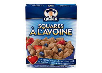 Céréales Squares à l'avoine de Quaker