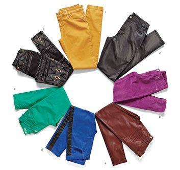 Les jeans colorés