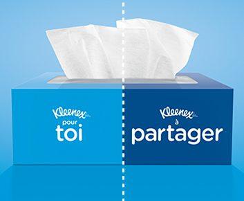 Partagez les soins Kleenex : J'ai partagé des Kleenex avec des étrangers!