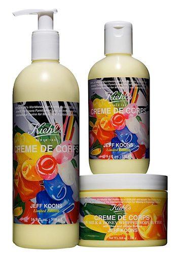 Collection de crèmes pour le corps en édition limitée de Jeff Koons