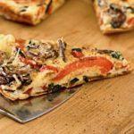 Omelette aux champignons et poivrons