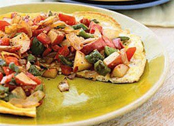 Petit-déjeuner aux tomates braisées