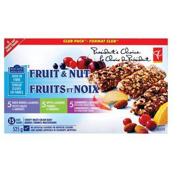 PC Menu Bleu, barres fruits et noix