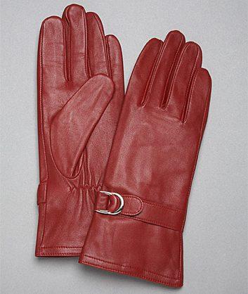 Gants en cuir rouge de Jones New York