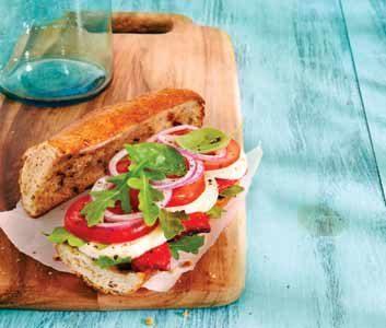 Baguettes à la salade Caprese