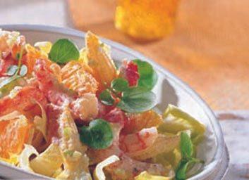Salade de crevettes aux clémentines