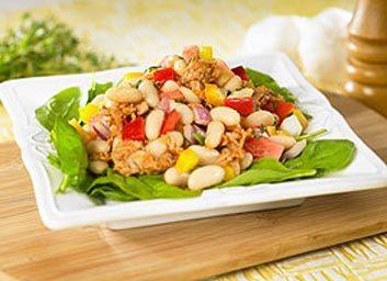 Salade de haricots blancs au thon