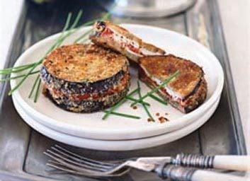 Sandwichs d'aubergine et de tomates