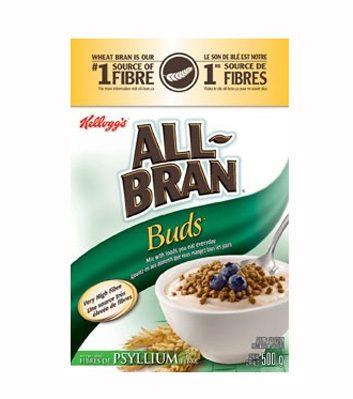 Céréales All-Brand Buds avec psyllium de Kellogg's