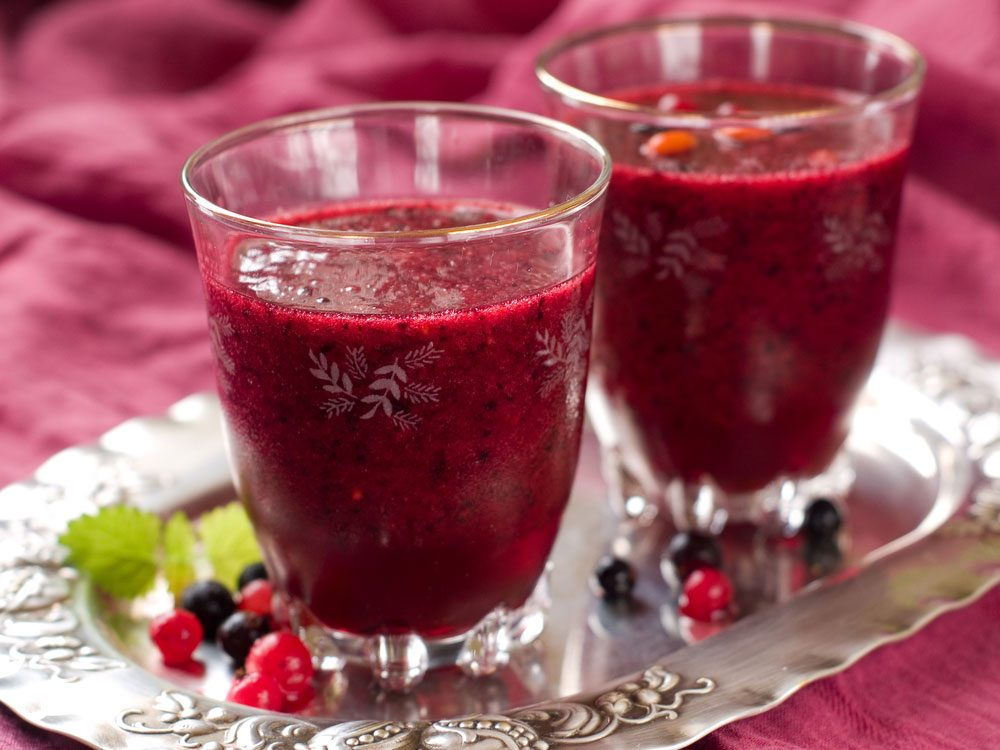 Smoothie coco-canneberge