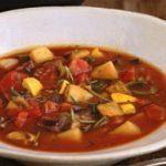 Soupe aux légumes grilles