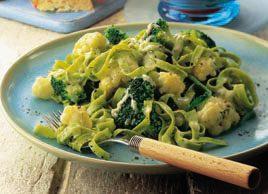Tagliatelles végétariennes au fromage bleu